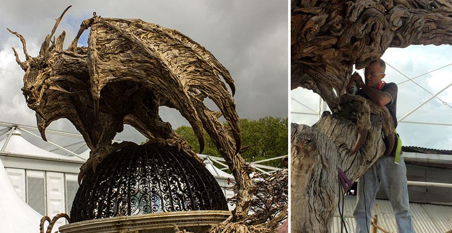 Driftwood Dragons And Beast Sculptures By James Doran Webb