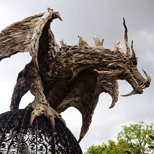 Driftwood Dragons And Beast Sculptures By James Doran-Webb