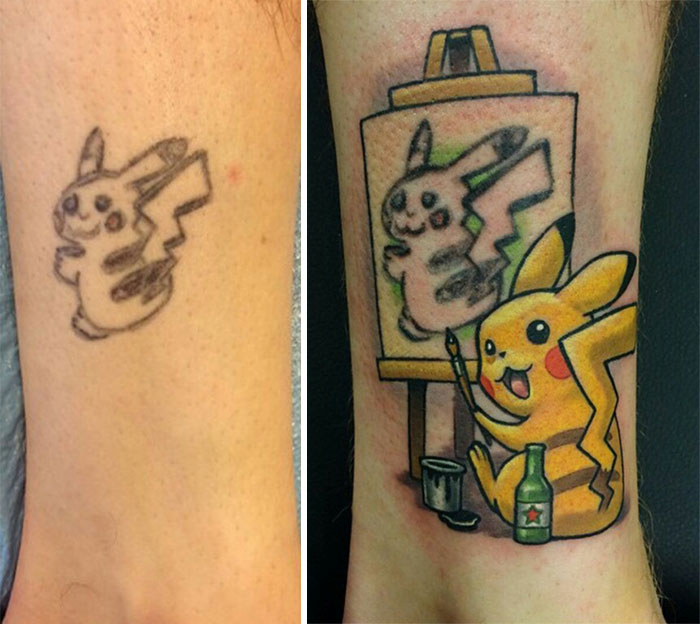 Credit to /u/HeroWords for the link earlier http://static.boredpanda.com/blog/wp-content/uploads/2015/06/fail-pikachu-tattoo-cover-up-lindsay-baker-1.jpg