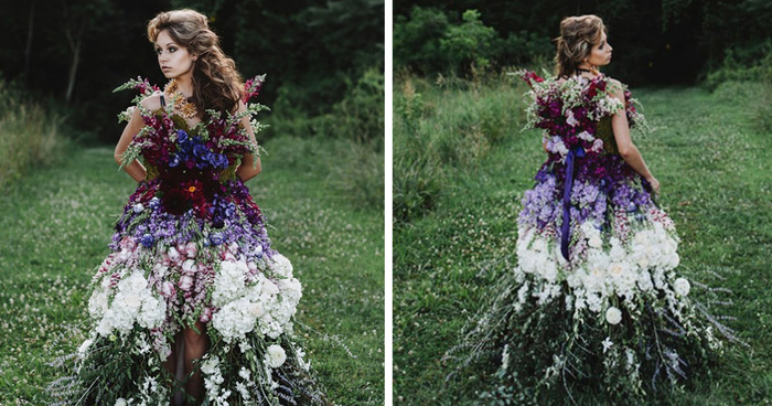Floral Haute Couture The Dress Made Of Flowers