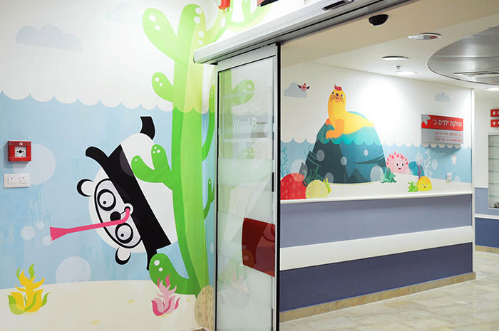 I Volunteered To Decorate A Hospital's Paediatric Department Walls To Make Kids Happier