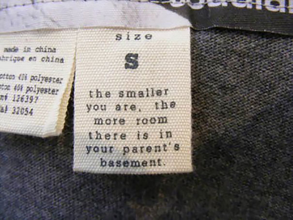 The Smaller You Are, The More Room There Is In Your Parents Basement