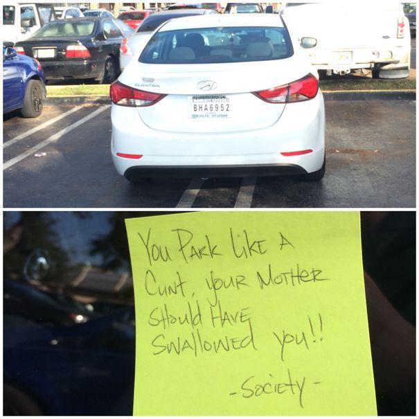 Looks Like Society Doesn't Like Double Parking
