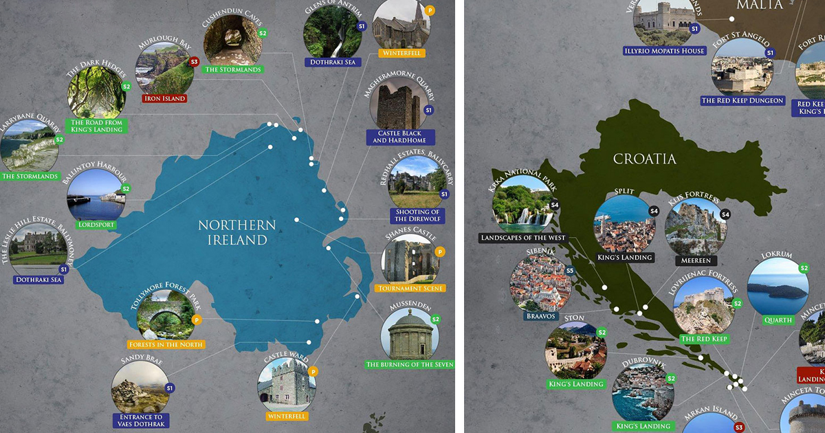 Game Of Thrones Filming Locations In Real Life