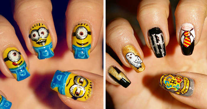 I Paint My Nails With Favorite Cartoons Movies And Snacks Bored Panda