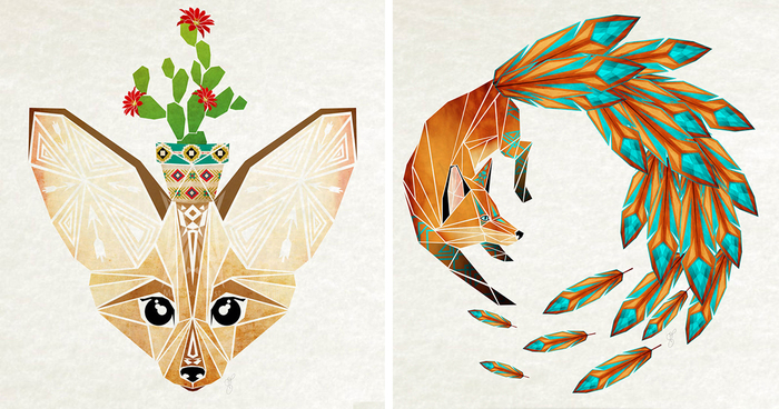 Inspired By Tangram, I Started Creating Geometric Illustrations Of ...