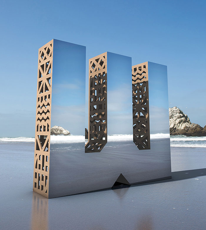 We Made Giant Mirror Letters In San Francisco To Show That Design Is All Around Us