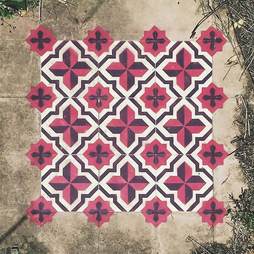 graffiti-spray-paint-tile-pattern-floor-installations-javier-de-riba-10