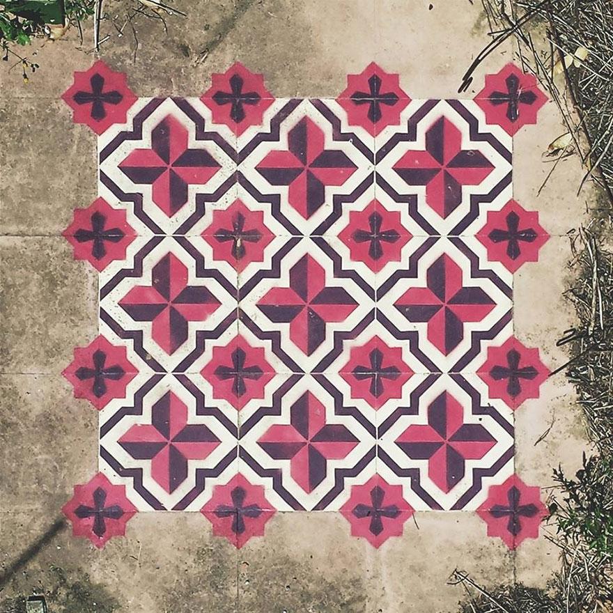 graffiti-spray-paint-tile-pattern-floor-installations-javier-de-riba-10