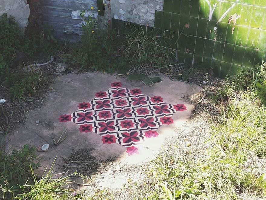 graffiti-spray-paint-tile-pattern-floor-installations-javier-de-riba-9