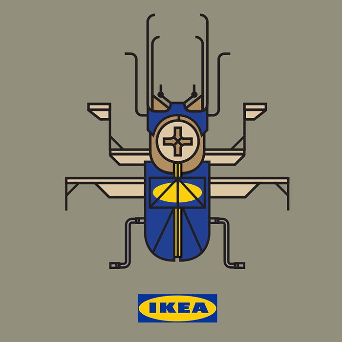 What Famous Brands Would Look Like If They Were Insects