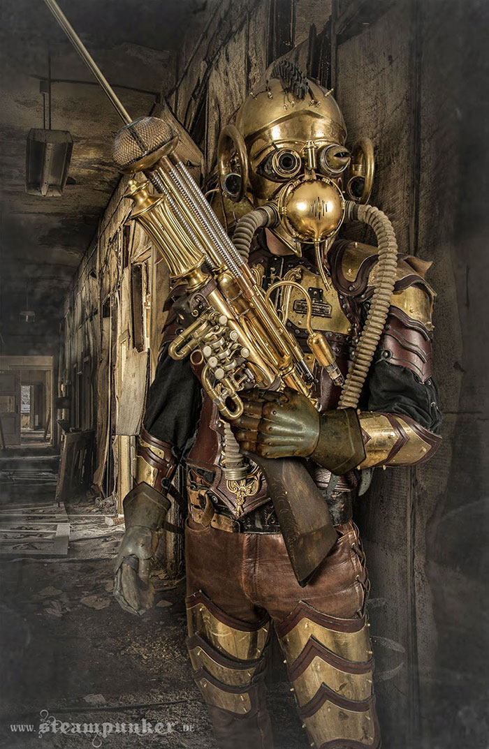 I Hand-Craft Steampunk Costumes From Old Parts For Movies