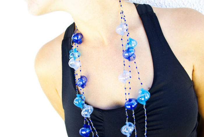 Pet Plastic Bottles Turned Into Unique Pieces Of Upcycled Jewellery By Mandarinacrafts