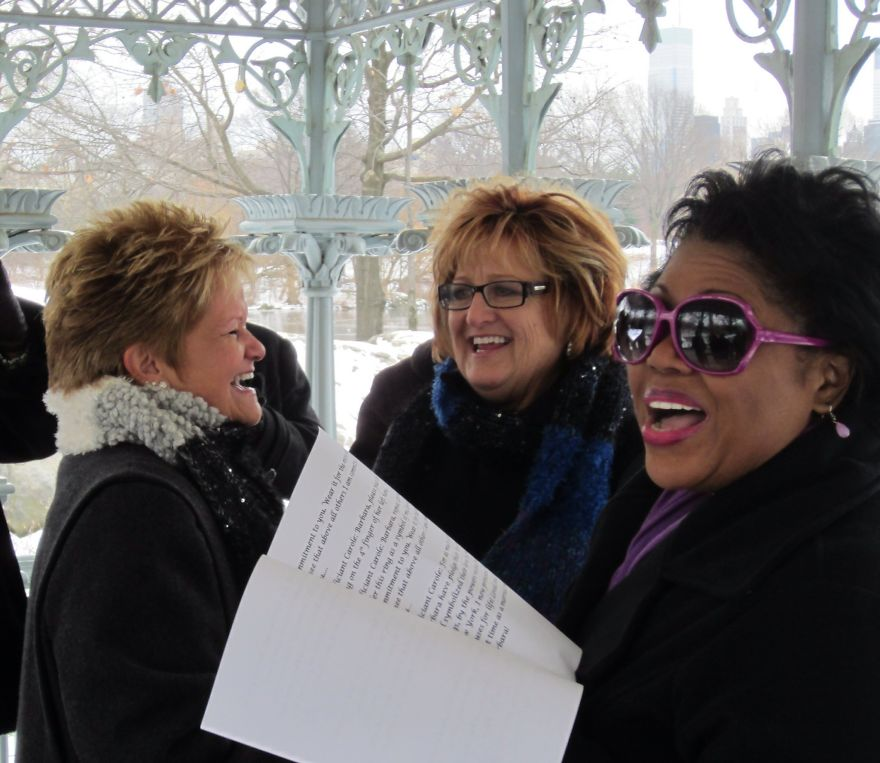 Lea And Barb. Nyc. Ladies Pavilion. January.