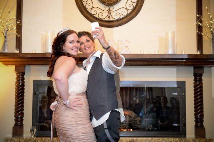 Amy Tee & Candice Wedding Selfie