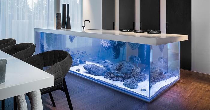 This Kitchen Island Is Also A Giant Aquarium Bored Panda