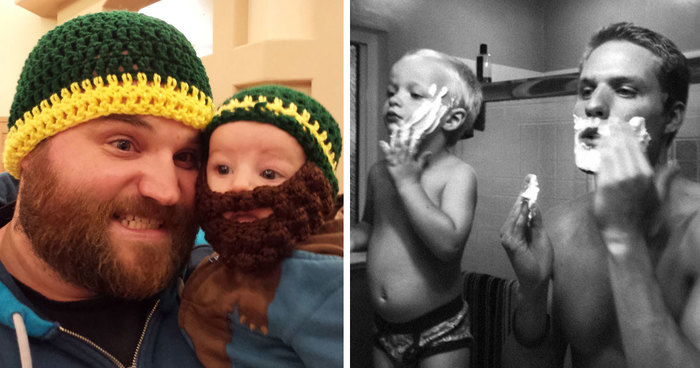 Like Father Like Son Adorable Photos Of Dads And Their Mini - 20 adorable like father like son moments