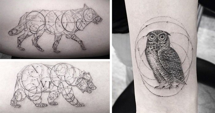 Geometric Tattoos By Dr Woo Whos Been Experimenting With