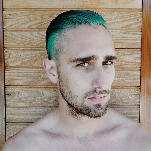 Merman Trend Men Are Dyeing Their Hair With Incredibly Vivid Colors  Bored