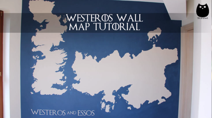 Amazing Westeros Map Painted On A Wall – Game Of Thrones
