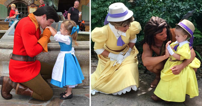 mom sews incredibly accurate disney costumes for her daughter to wear at disney world bored panda. Black Bedroom Furniture Sets. Home Design Ideas