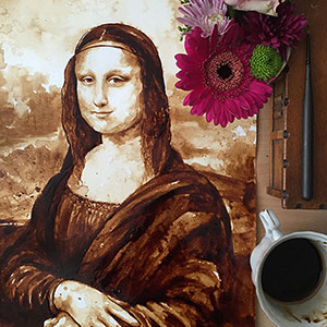 My New Mona Lisa Coffee Painting Took Me 10 Hours