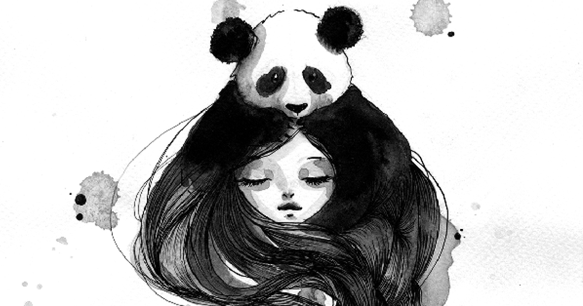 Panda amp Maiden Ink Illustrations I Never Used Before And Truly