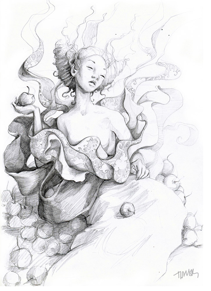 pencil-ink-drawings-old-winter-fairy-tales-adamova-marina3