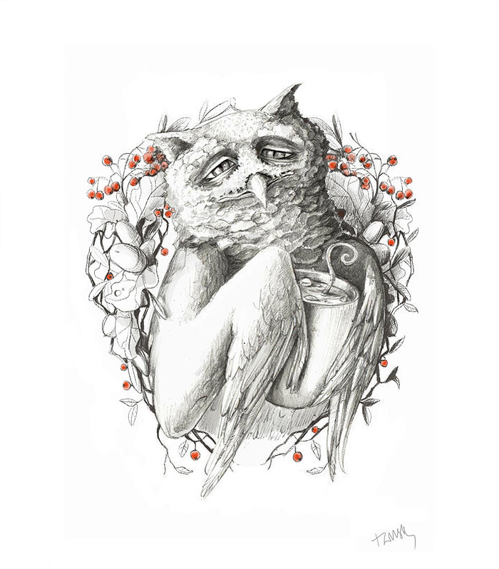 pencil-ink-drawings-old-winter-fairy-tales-adamova-marina5