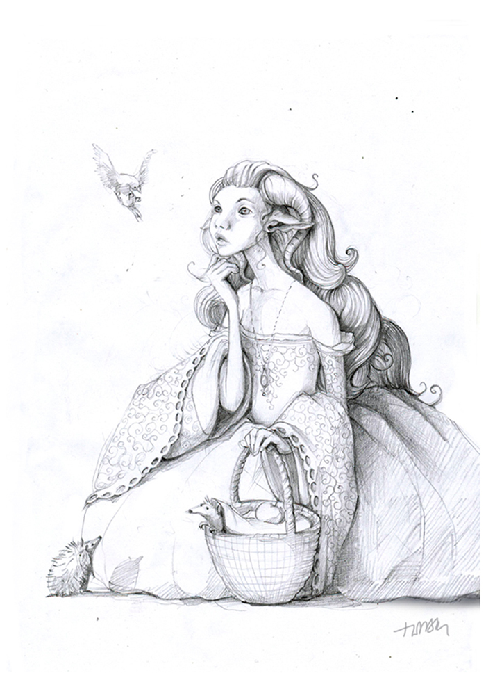 pencil-ink-drawings-old-winter-fairy-tales-adamova-marina8