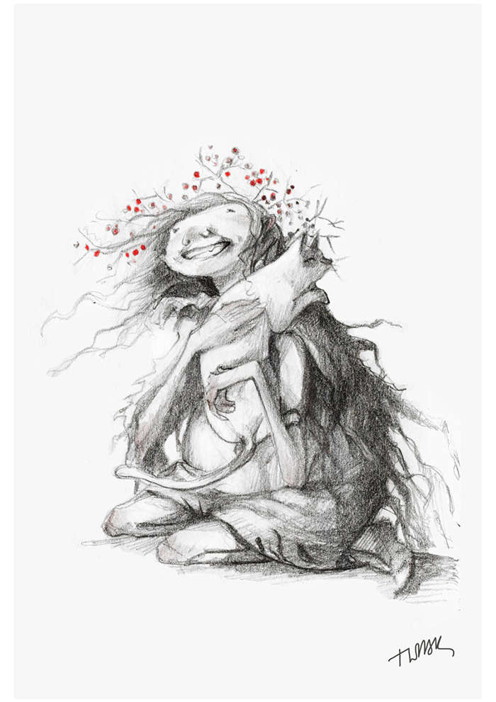 pencil-ink-drawings-old-winter-fairy-tales-adamova-marina9