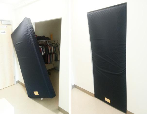 Mattress In Door Frame