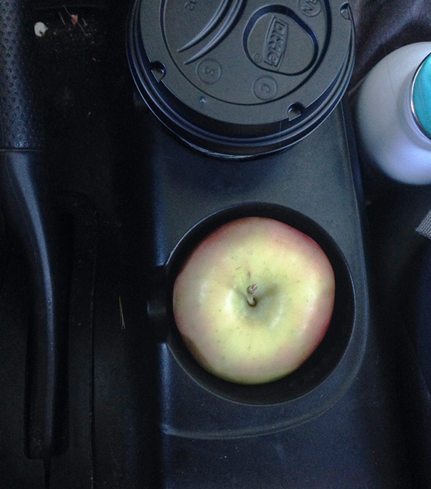The Way My Apple Fit Inside My Cup Holder