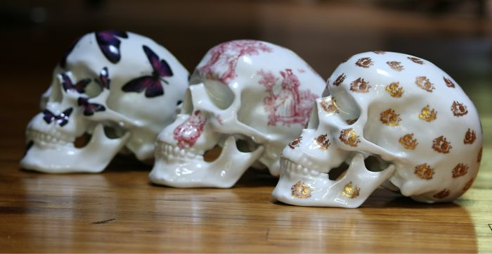 Skull Porcelain By French Artist Noon