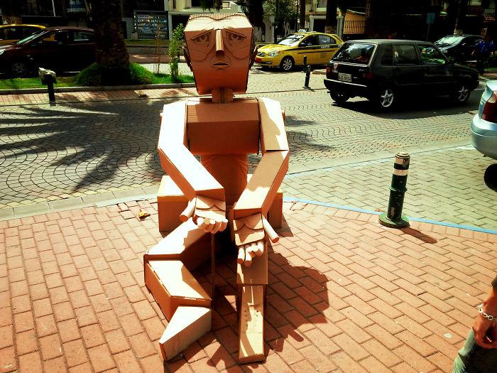 Traveling Art (recycled Cardboard) By María José Cabezas