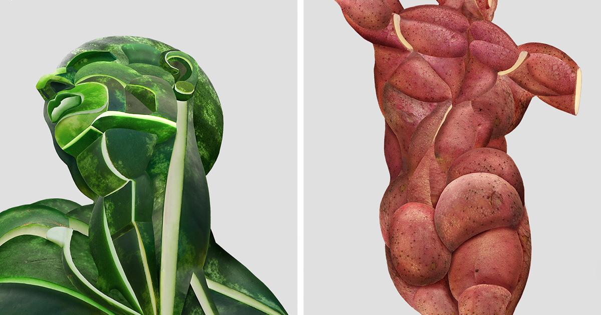 I Create Realistic Human Anatomical Parts From Fruits Vegetables