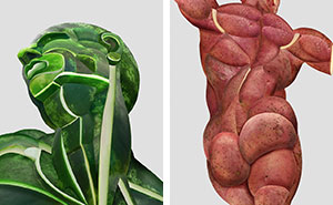 I Create Realistic Human Anatomical Parts  From Fruits & Vegetables