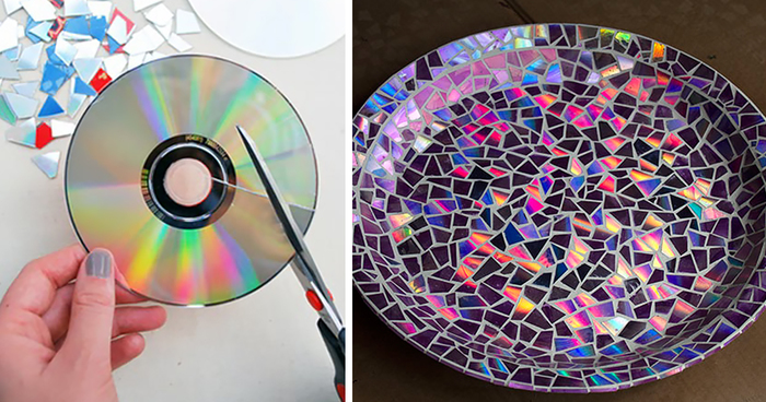 21 brilliant diy ideas how to recycle your old cds for Easy wealth out of waste