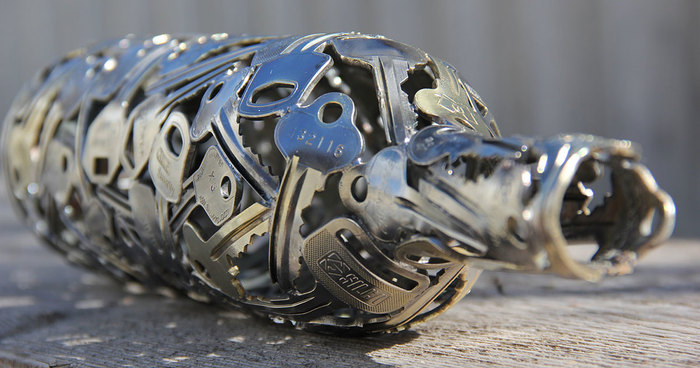 Artist Turns Old Keys And Coins Into Recycled Art | Bored Panda
