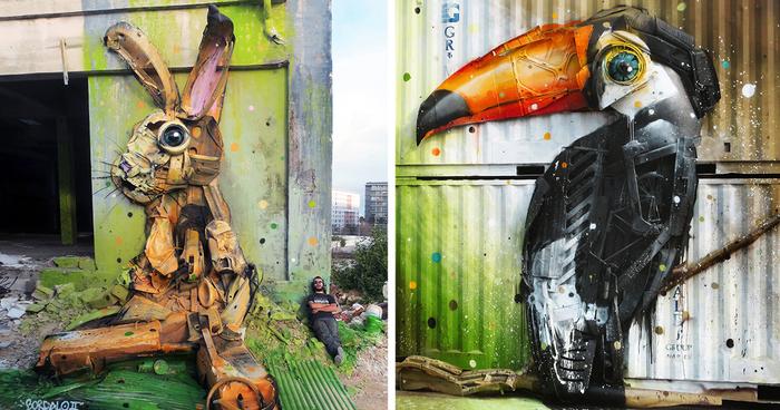 Big Trash Animals: Artist Turns Junk Into Animals To Remind Us ...