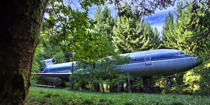 Man Lives In A Boeing 727 In The Middle Of The Woods   Bored