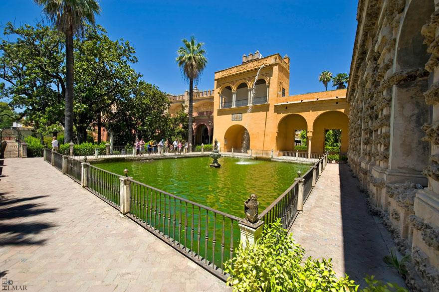 Royal Palace Of Dorne: Gardens Of The Real Alcázar Palace, Seville, Spain