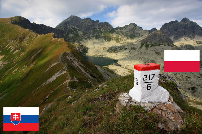 Slovakia Vs. Poland – Main Ridge Of High Tatras Mountains