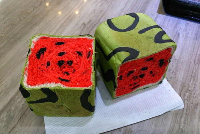 Taiwan Invents Square Watermelon Bread That Is Delicious And Confusing