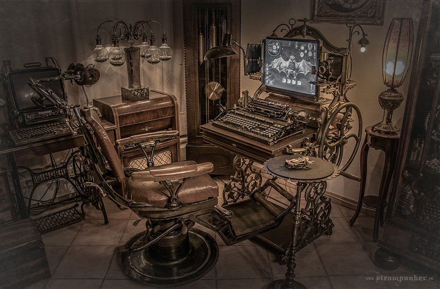 steampunk office. Steampunk-computer-steampunker-8 Steampunk Office R