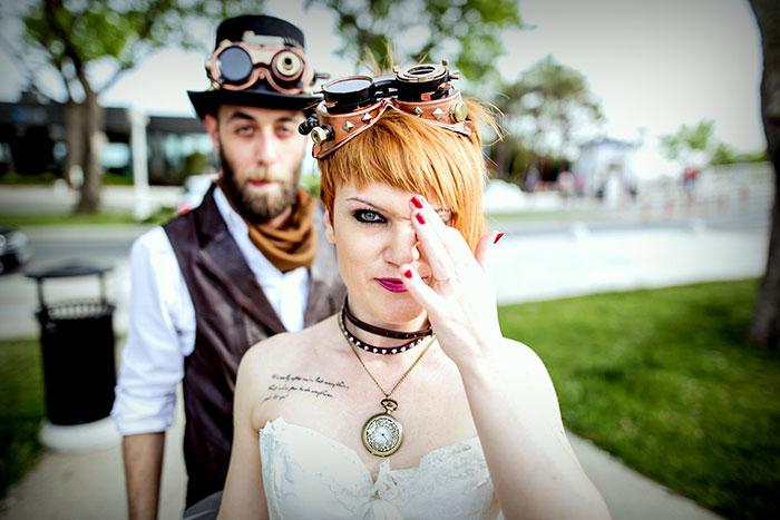 Steampunk Wedding Inspired By Alice In Wonderland