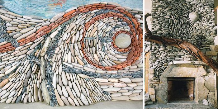 The Ancient Art Of Stone: Couple Creates Beautiful Rock Wall Art ...