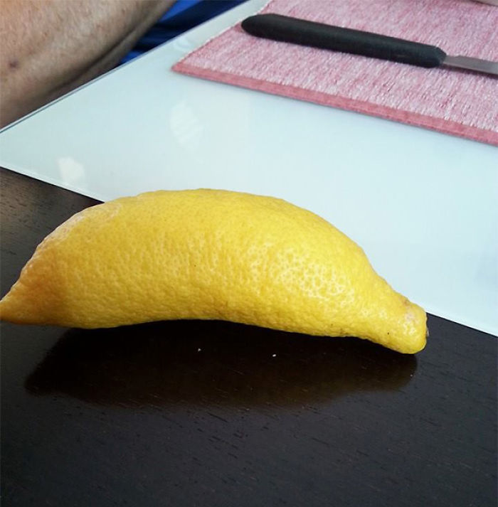 A Lemon That Looks Like A Banana
