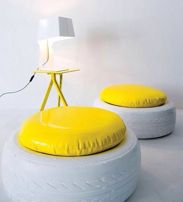 Painted Tire Chairs