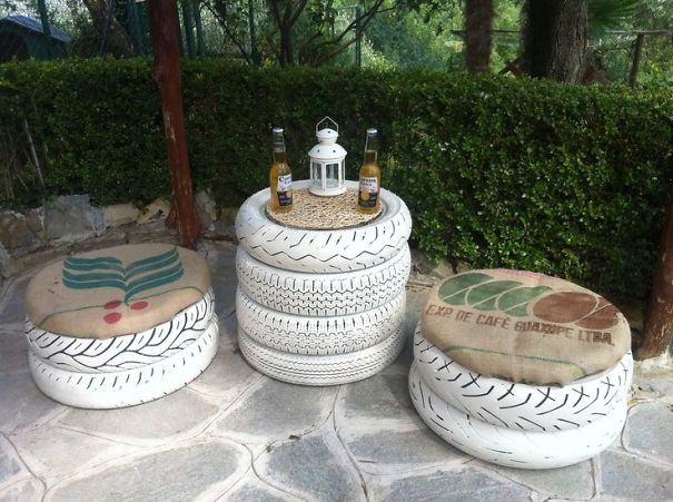 Tire Garden Furniture Set